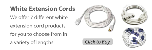 white extension cords